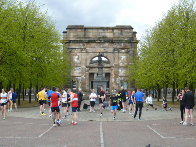 Registration at McLennan Arch, Glasgow Green